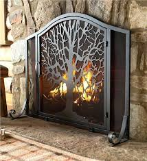 rustic fireplace screen attractive iron screens with intended for within design star t51 rustic