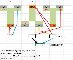 wiring 3 gang, 2 way light switch diynot forums 2 way intermediate lighting circuit wiring diagram 2 Way Lighting Circuit Wiring Diagram #43