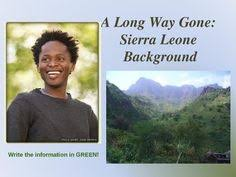printable teacher s guide for a long way gone a startling a long way gone by ishmael beah background notes