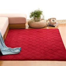solid red rug c velvet carpet baby play crawling red rugs grid area rug solid anti