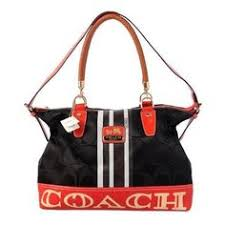 Coach Braided In Signature Large Black Totes BFQ Outlet Online