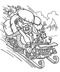 You can now print this beautiful how the grinch stole christmas coloring page or color online for free. Christmas The Grinch Stolen Santas Sleigh Coloring Page Grinch Coloring Pages Free Christmas Coloring Pages Christmas Coloring Books