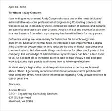 Recommendation Letter For Office Assistant Letter Of Recommendation Administrative Assistant 2018 Letter
