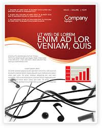 Music Newsletter Templates Music Newsletter Template For Microsoft Word Adobe Indesign 02687
