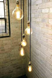 multiple bulb ceiling light hanging fixture cord 5 drop pendant with round cords and bulbs multiple bulb ceiling light
