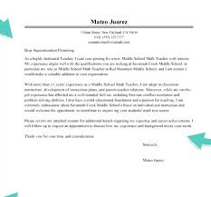Cover Letter Examples For Math Teachers Tomyumtumweb Com