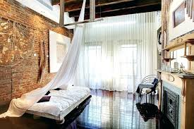 Nice Wall Curtains Curtain Bedroom View In Gallery Delicate Sheer Contrast The  Rough Exposed Brick Walls Perfectly Designs