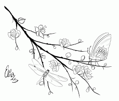 Small Picture Creative Chinese Cherry Blossom Coloring Pages Coloring Panda