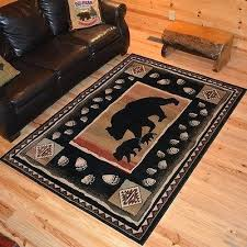 paw print rug peachy design 2 rug perfect decoration black bear paw print border cabin area