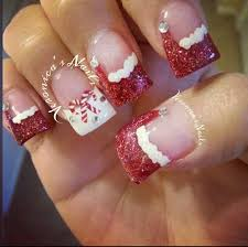 Christmas Hat Nail Design Nailedbyvee Red White Tips Christmas Santa Hat Candy Cane