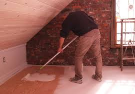Painted plywood floors White Washed Painted Painted Plywood Floors Priming Bob Vila Painted Plywood Floors Bob Vila