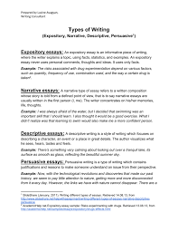 types of expository essays different types of writing