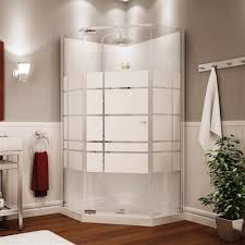 maax maax shower solution nia 36 in soho neo angle corner shower kit lowe s canada