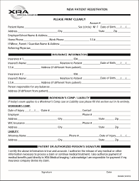 Patient Registration Form XRA Medical Imaging New Patient Forms 10