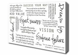 Famous Quotes About Dreaming Big Best of Famous Quote Work Hard Dream Big Expect Success Quotes Prints Canvas