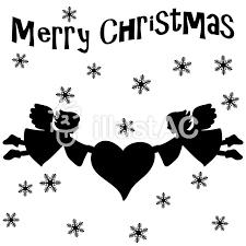 シルエットクリスマス 天使イラスト No 284455無料イラストなら