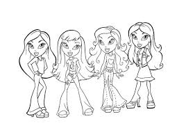 Small Picture bratz coloring pages jasmine bratz coloring pages download and