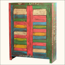 small reclaimed wood storage cabinet with stained shutter doors wooden storage cabinets with doors