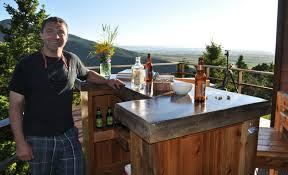 diy patio bar plans. Contemporary Bar Patio Bar Plans Concrete Counter And Cedar Base Diy Inside