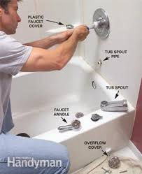 bathtub faucet and shower head. photo 1: remove the faucet, tub spout and shower head bathtub faucet