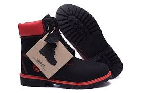 men s timberland 6 inch black red nubuck leather