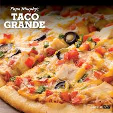 Taco Pizza Papa Murphys White Christmas Tree Garland