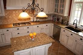 image of cream and brown granite countertops
