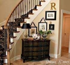 Decorating For Entrance Ways Foyer Help Curved Bench Decor And Stairs