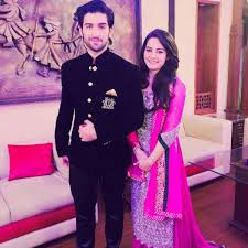 aiman khan and muneeb butt engagement ceremony pictures