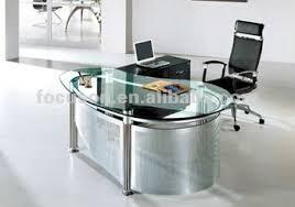 glass top office desk modern. FKS-HD-ED022 Modern Glass Top Office Desk E