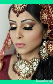 latest indian bridal eye makeup 2016 golden and red