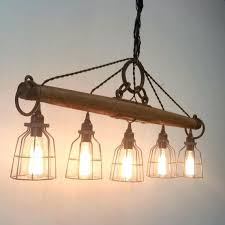rustic industrial lighting chandelier bulb iron pipe ceiling chandeliers inexpensive pendant retro vintage style metal