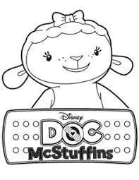 Coloring Pages For Kids Doc Mcstuffins Color Page Party On Coloring