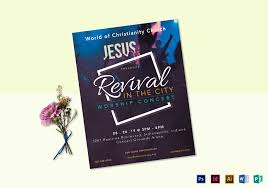 Concert Flyer Template For Word Revival Worship Concert Flyer Design Template In Psd Word
