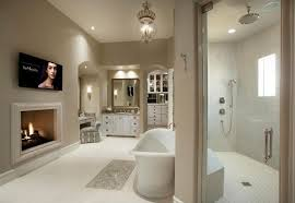 walk in shower lighting. Traditional Master Bathroom With Fireplace Walk In Shower And Makeup Counter Lighting