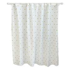Metallic Dot Shower Curtain White - Pillowfort