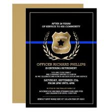 Design Your Own Office Simple Police Officer Retirement Party Invitation Diy Cyo Personalize