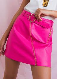 hot pink biker skirt pink color pink peppermayo