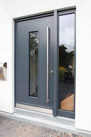 glass exterior modern office. aluminium front door with sidelight modern sorpetaler fensterbau glass exterior modern office