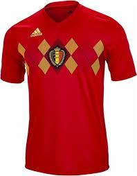 Mens Adidas Jersey 2018-2019 Red-gold National Replica com Soccer Team 1soccerstore Home Belgium