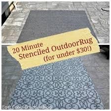 stenciled outdoor rug 3 4