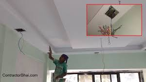 false ceiling synchronization of electrician and painter