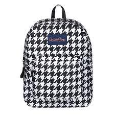 College Designer Bags Designer Houndstooth Prints Backpack Girls School Bag For Middle School College Travel Daypack