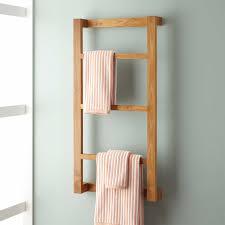 Bathroom Wulan Teak Hanging Towel Rack Bathroom Throughout Bathroom