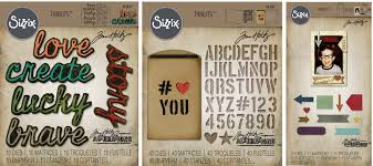 sizzix thinlits s by tim holtz gift card