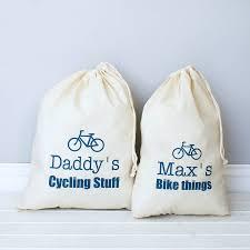 personalised cycling storage bag