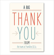 Thank You Cards For Business 17 Business Thank You Cards Free
