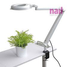 eurostyle manicure table lamp magnifying led light lasts up to 50 000 hours 110v