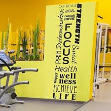 HUGE Fitness Inspirational Wall Mural - Removable Vinyl Wall Decal - 20