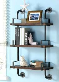 rustic wood floating shelves wooden wall industrial walnut shelf wal wood wall shelves